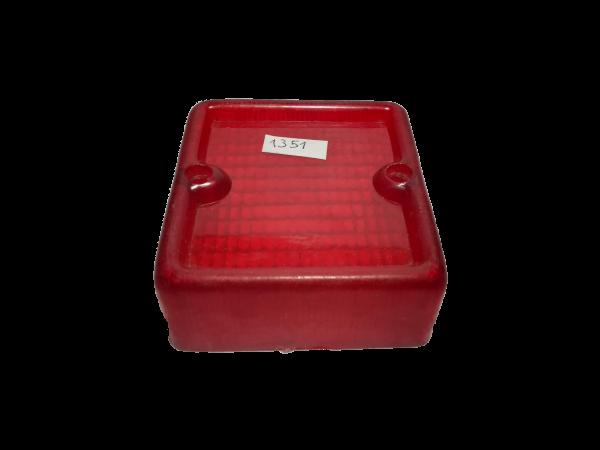 Lente cuadrado faro antiguo rojo 1351_2