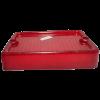 Lente rectangular faro antiguo rojo